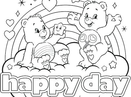 450x334 Full Perfect Harmony Care Bears Coloring Page Pe Sheets Printable