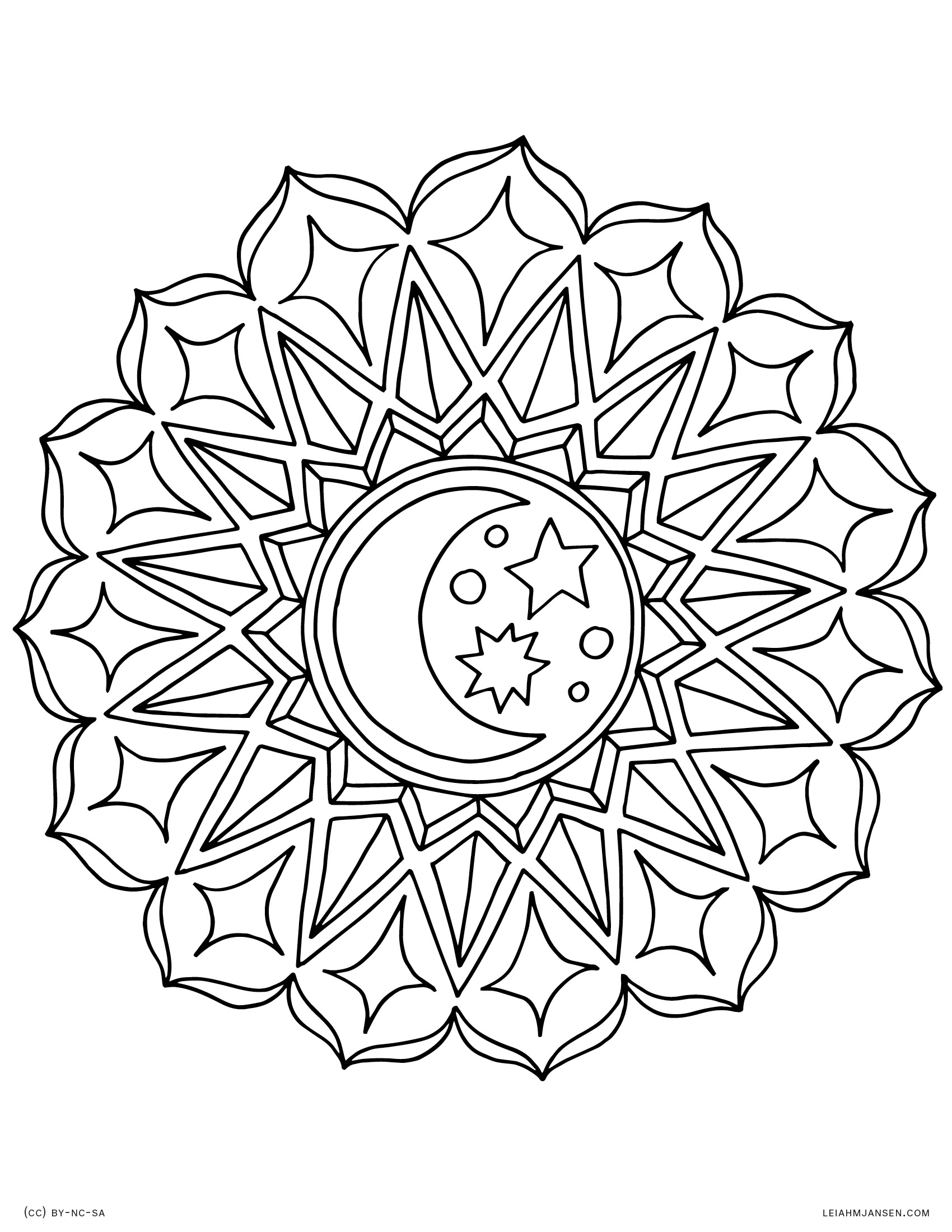 1700x2200 Pleasant Mandala Coloring Pages Kids Page Harmony