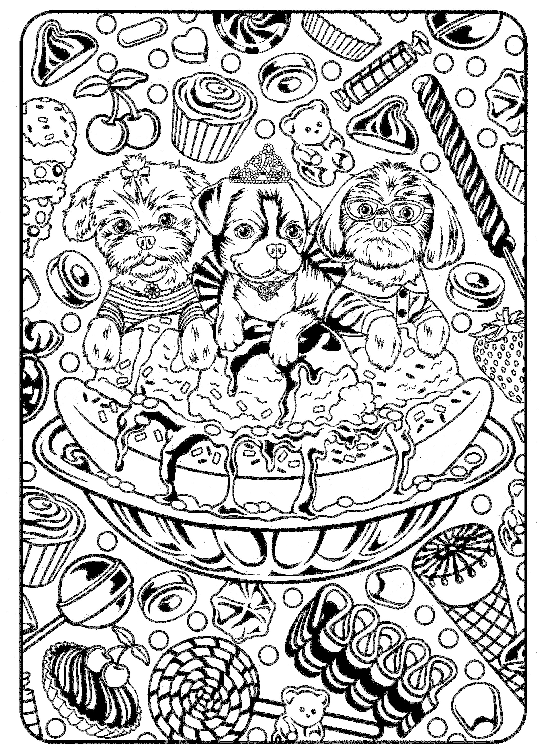 2119x2934 Printable Harmony Nature Adult Coloring Book Pg Free Coloring