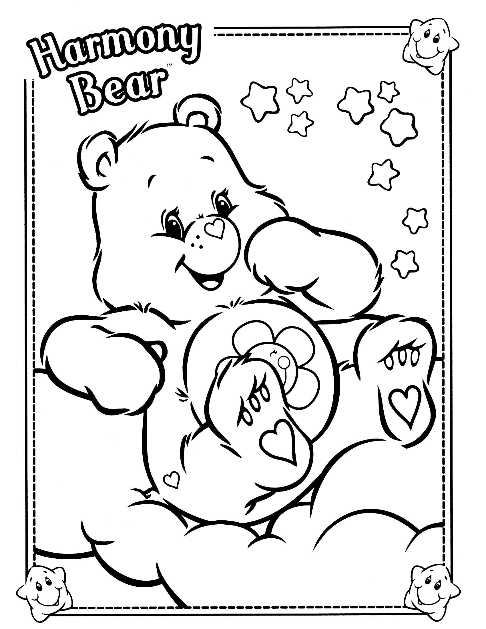 1700x2200 Wonderheart Bear Coloring Pages Copy Inspiration Care Bears Page