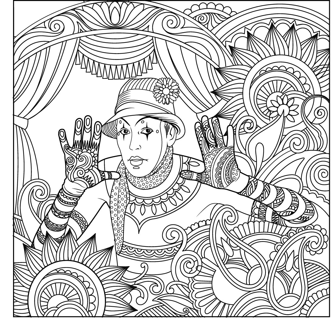1090x1099 Awesome Harmony Nature Adult Coloring Book Pg