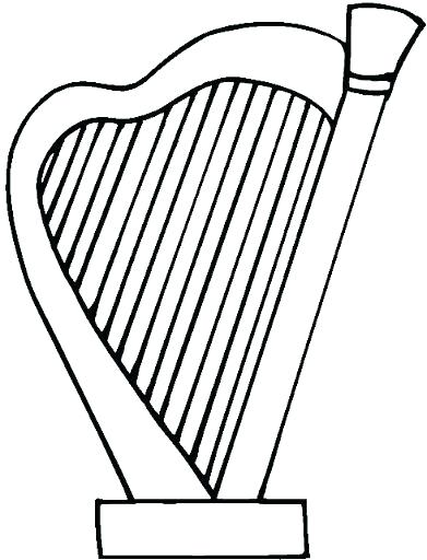 391x512 Harp Coloring Page S Irish Harp Colouring Page