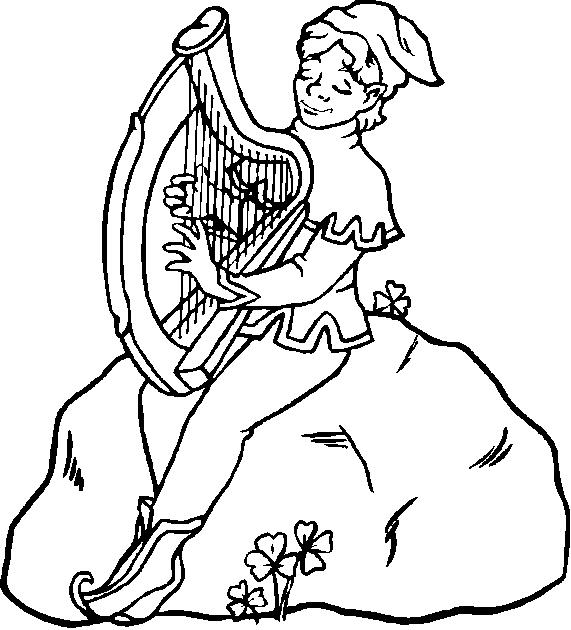571x630 Irish Coloring Pages Elegant Irish Harp Coloring Pages Logo