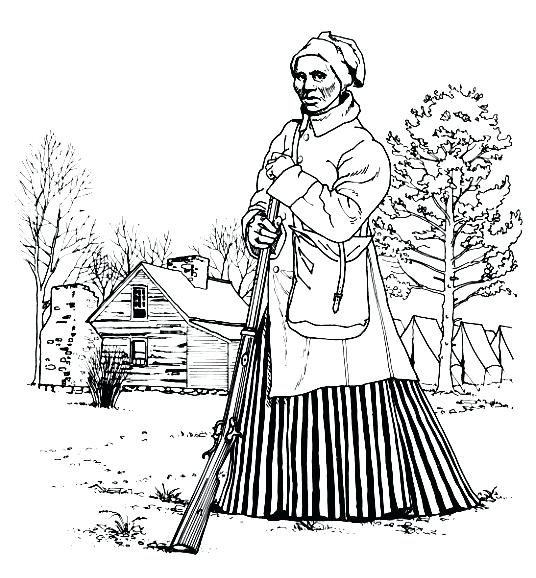 Harriet Tubman Coloring Page at GetDrawings.com | Free for ...
