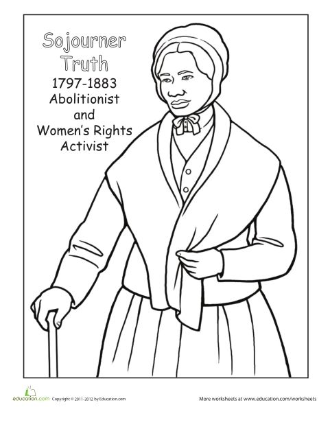 picture about Harriet Tubman Printable Worksheets known as Harriet Tubman Coloring Webpage at  Totally free for