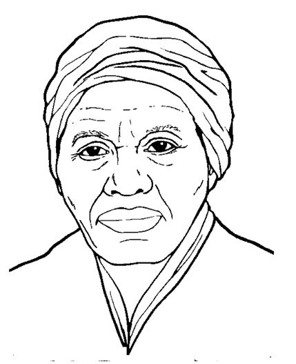 429x527 Harriet Tubman Coloring Page Profile Drawing Board Weekly