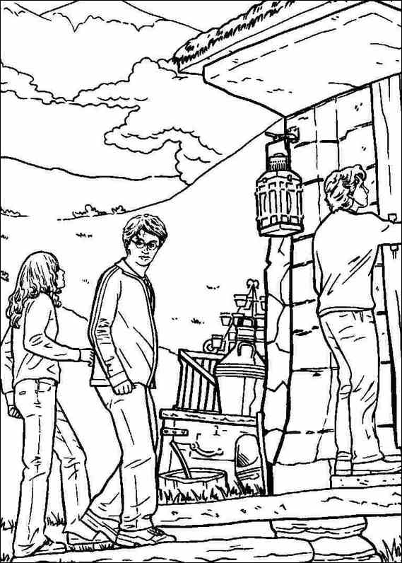 569x796 Harry Potter Character Coloring Pages