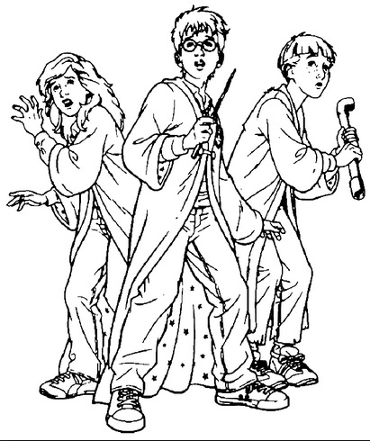 411x490 Harry Potter Coloring Page Coloring Book