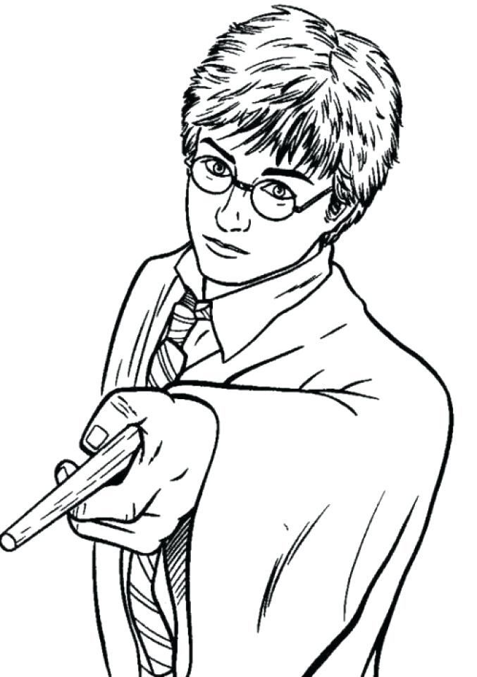 677x960 Harry Potter Coloring Pages