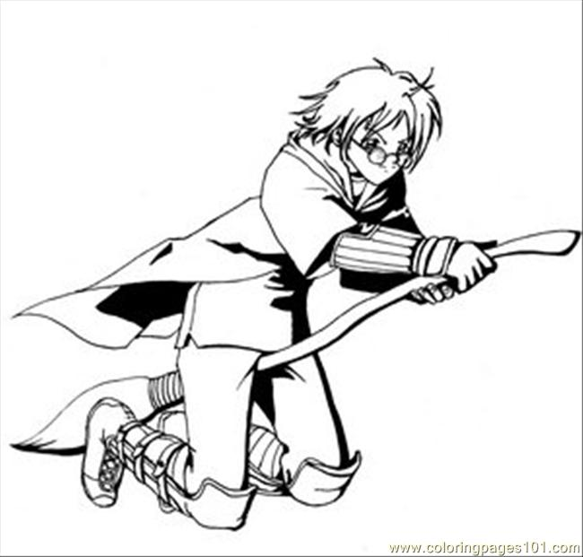 650x621 Harry Potter Quidditch Coloring Page