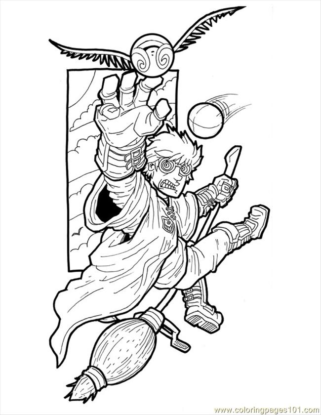 650x840 Harry Potter Small Coloring Page