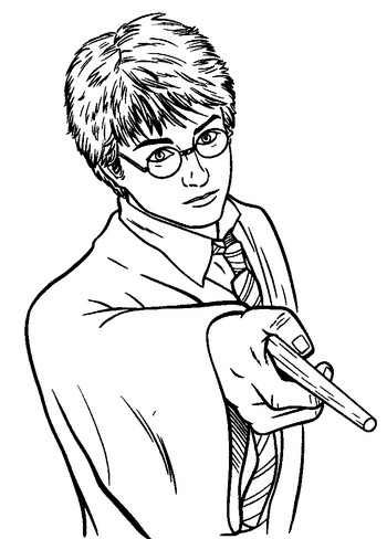350x488 Harry Potter Wand Coloring Page Coloring Book