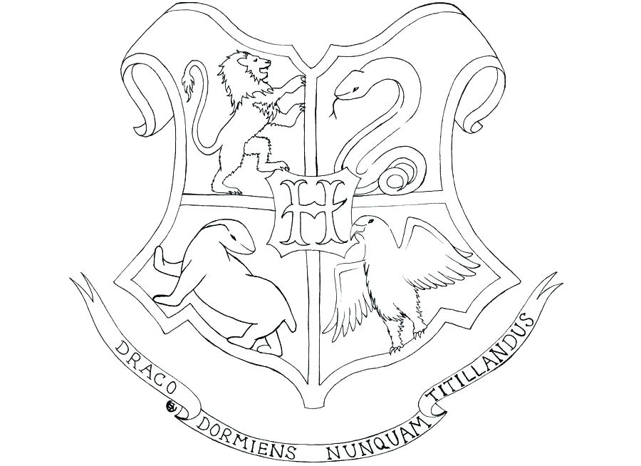 900x654 Hogwarts Crest Coloring Page Harry Potter Coloring Pages Crest