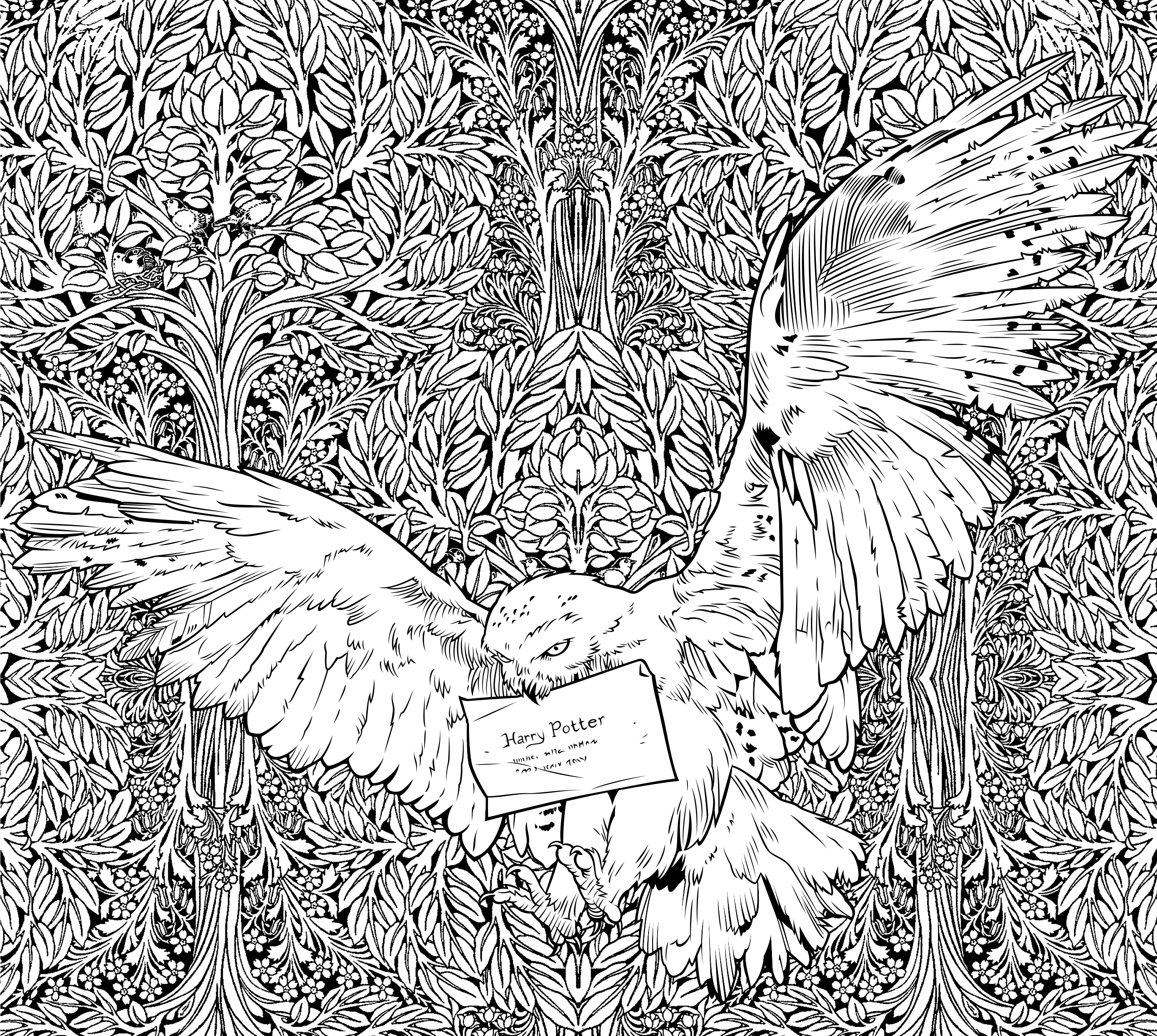 2551x2283 Excellent Ideas Harry Potter Coloring Book A Sneak Peek Of The New