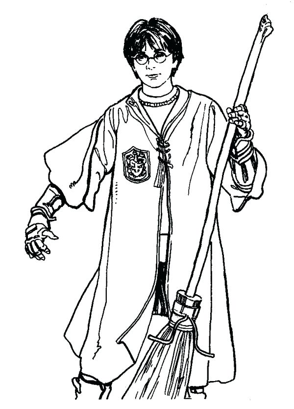 600x834 Harry Potter Coloring Page Player Harry Potter With Coloring Page
