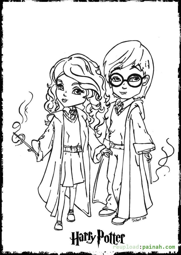 728x1024 Harry Potter Coloring Pages Printable Cartoon Cute Kids
