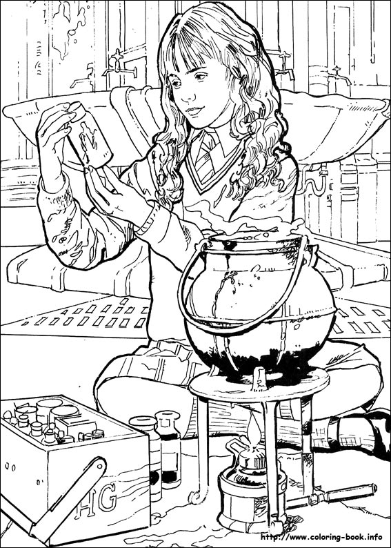 567x794 Harry Potter Coloring Picture Coloring Harry