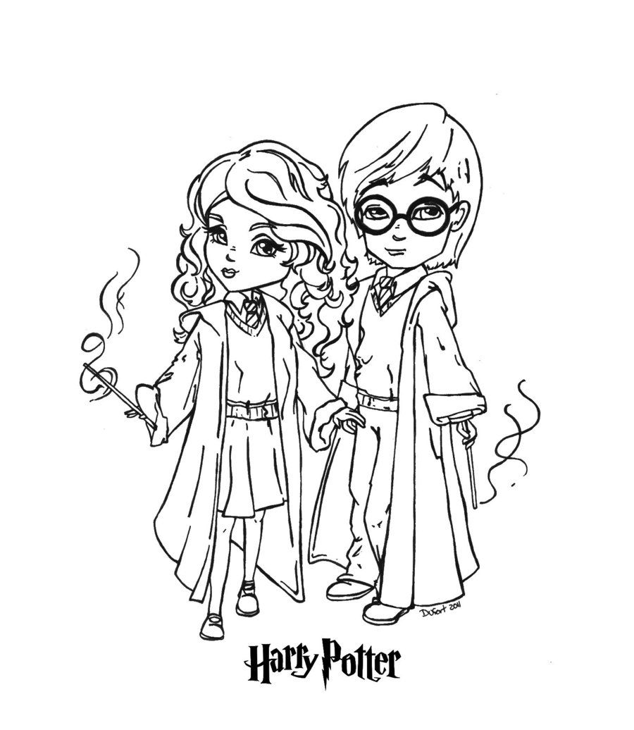 900x1036 Harry And Hermione