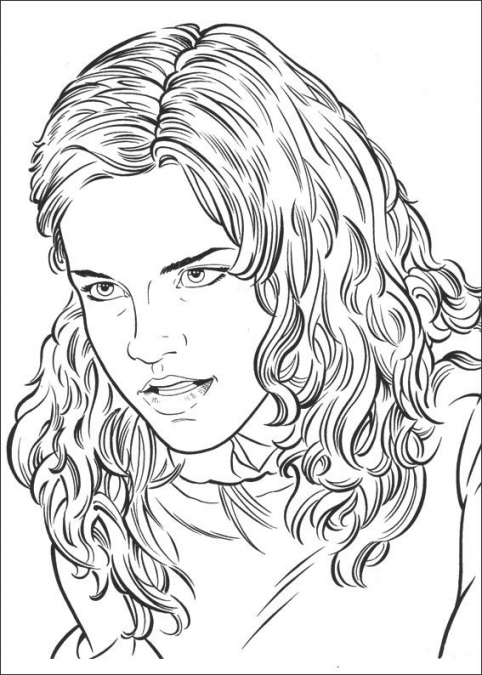 482x675 Hermione Coloring Pages Hermione Granger Who Is Angry Harry Potter