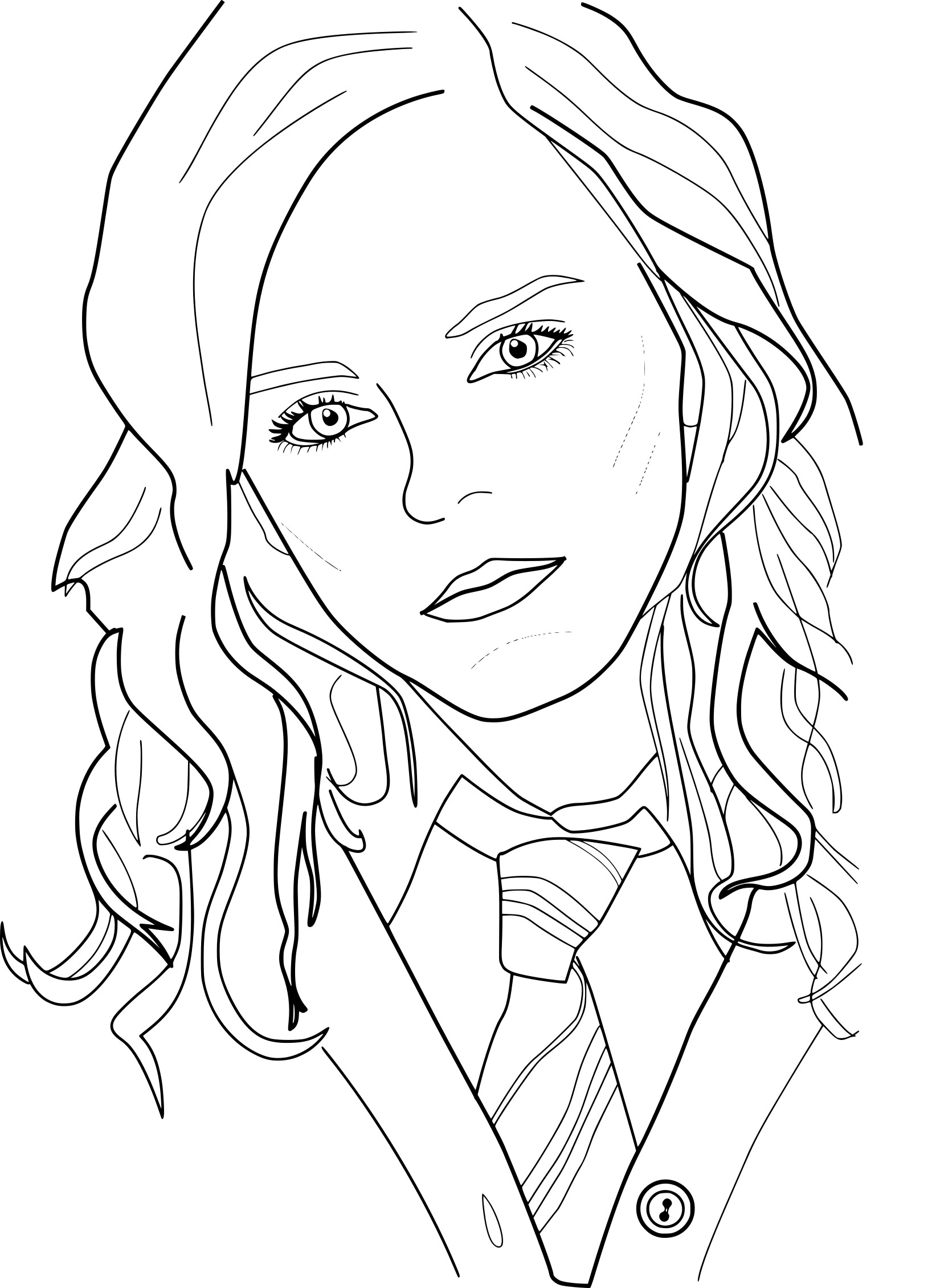 1643x2259 Easily Harry Ron And Hermione Coloring Pages