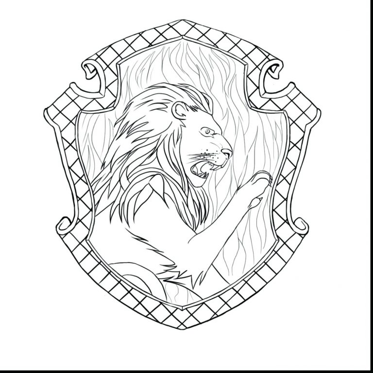 768x768 Harry Potter Coloring Pages Hogwarts Crest New Fresh Page
