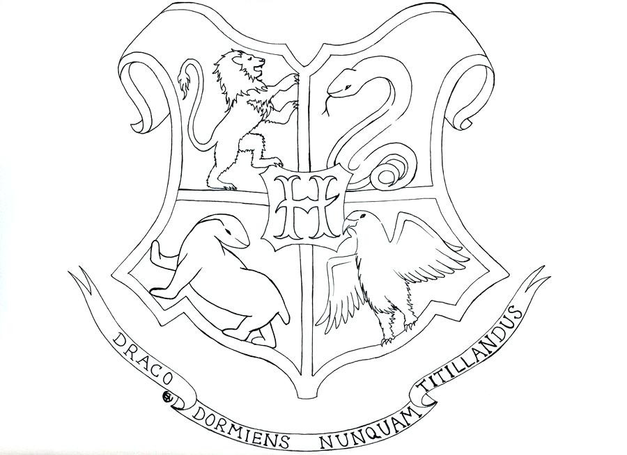 900x654 Harry Potter Coloring Pages Hogwarts Crest Page
