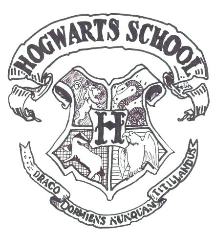 440x480 Hogwarts Crest Coloring Page Harry Potter Coloring Pages Hogwarts