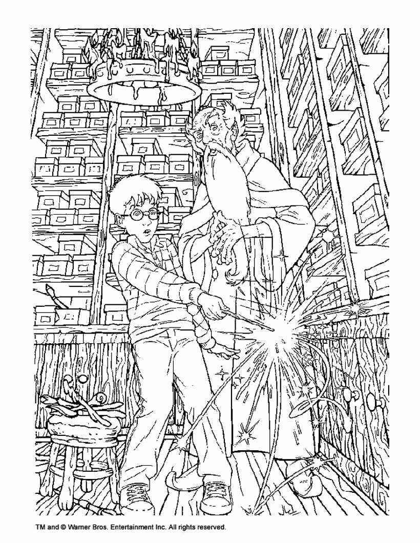 820x1060 Awesome Harry Potter Coloring Pages Hogwarts H Design Great