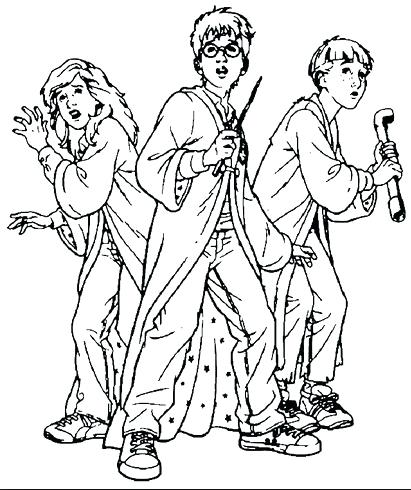 411x490 Harry Potter Coloring Pages Harry Potter Coloring Page Harry