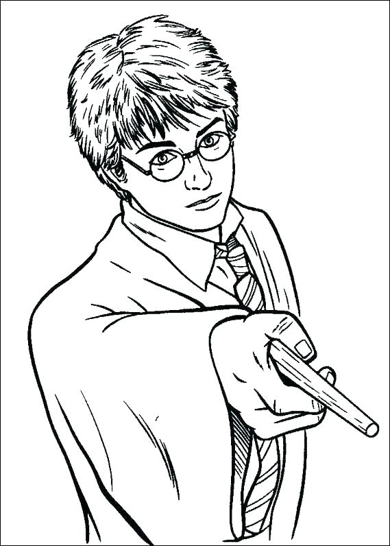 569x796 Harry Potter Coloring Pages Harry Potter Wand Coloring Page Harry
