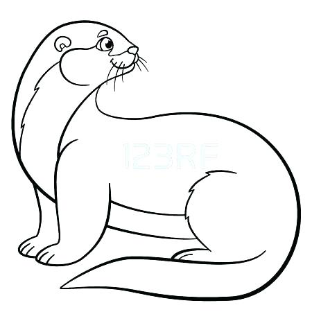450x450 Otter Coloring Page Otter Coloring Pages Otter Coloring Page River