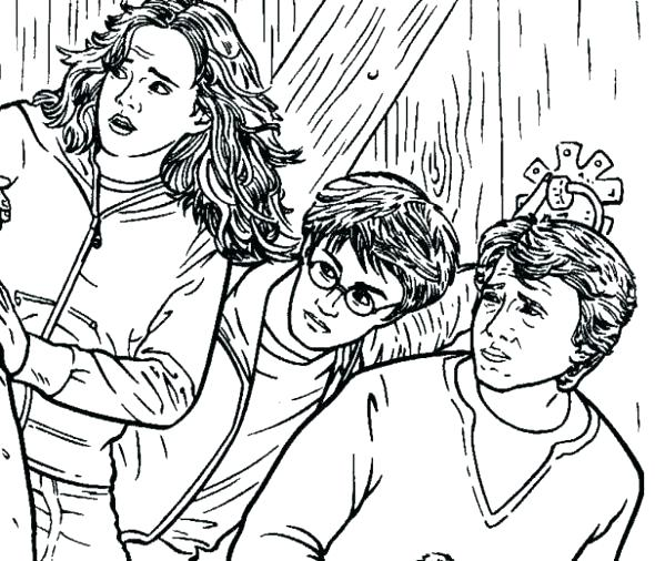 590x506 Harry Potter Color Pages Free Printable Colouring Best Coloring
