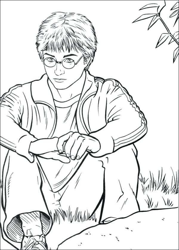 600x840 Harry Potter Coloring Page Harry Potter A Harry Potter Coloring
