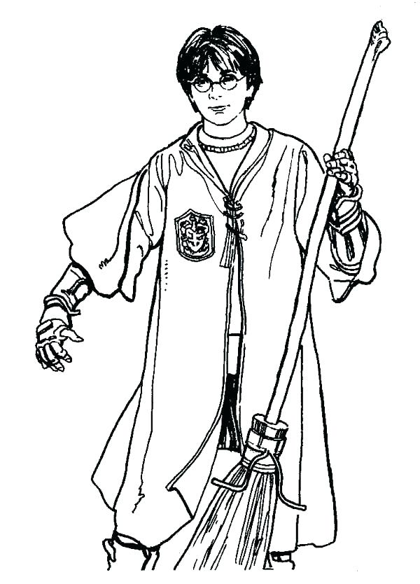 600x834 Harry Potter Coloring Pages Pdf Harry Potter Wand Coloring Page