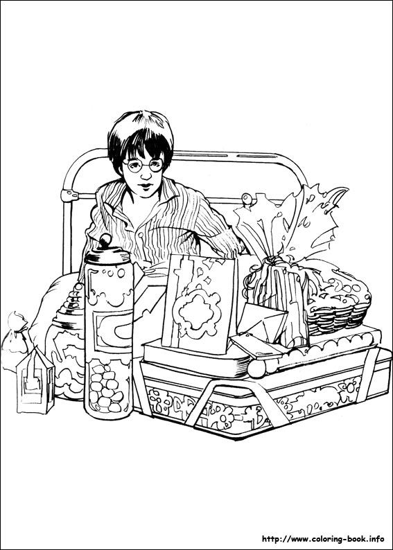 567x794 Harry Potter Coloring Picture