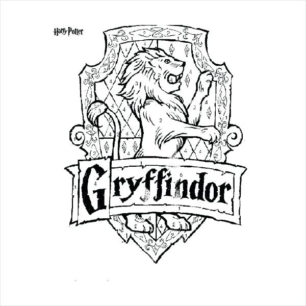 600x600 Hogwarts Crest Coloring Page Harry Potter Coloring Pages Free