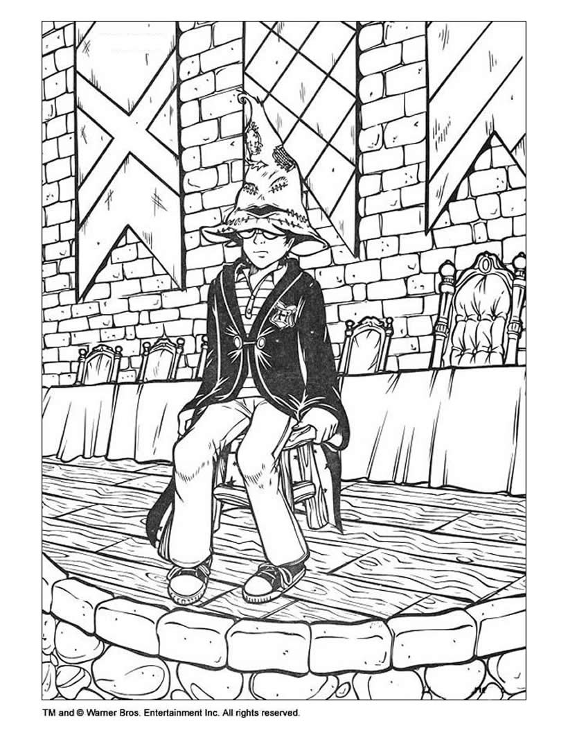 820x1060 Harry Potter Coloring Page Source Tat Z Kid Color
