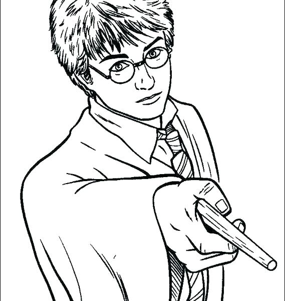 569x600 Coloring Pages Of Harry Potter Harry Potter Coloring Pictures