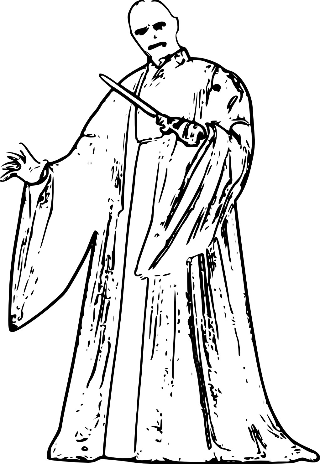 1021x1482 Evil Lord Voldemort Free Coloring Page Harry Potter, Movies