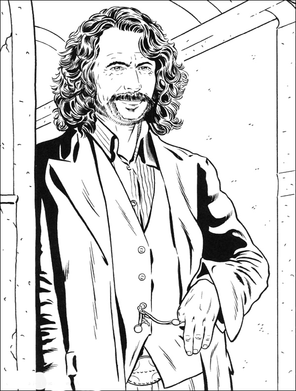 600x794 God Father Of Harry Potter Coloring Pages