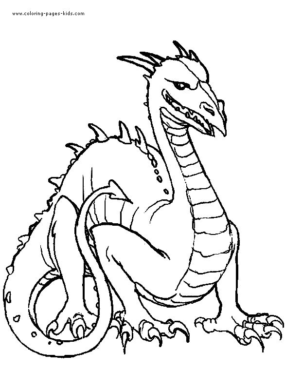 Harry Potter Dragon Coloring Pages