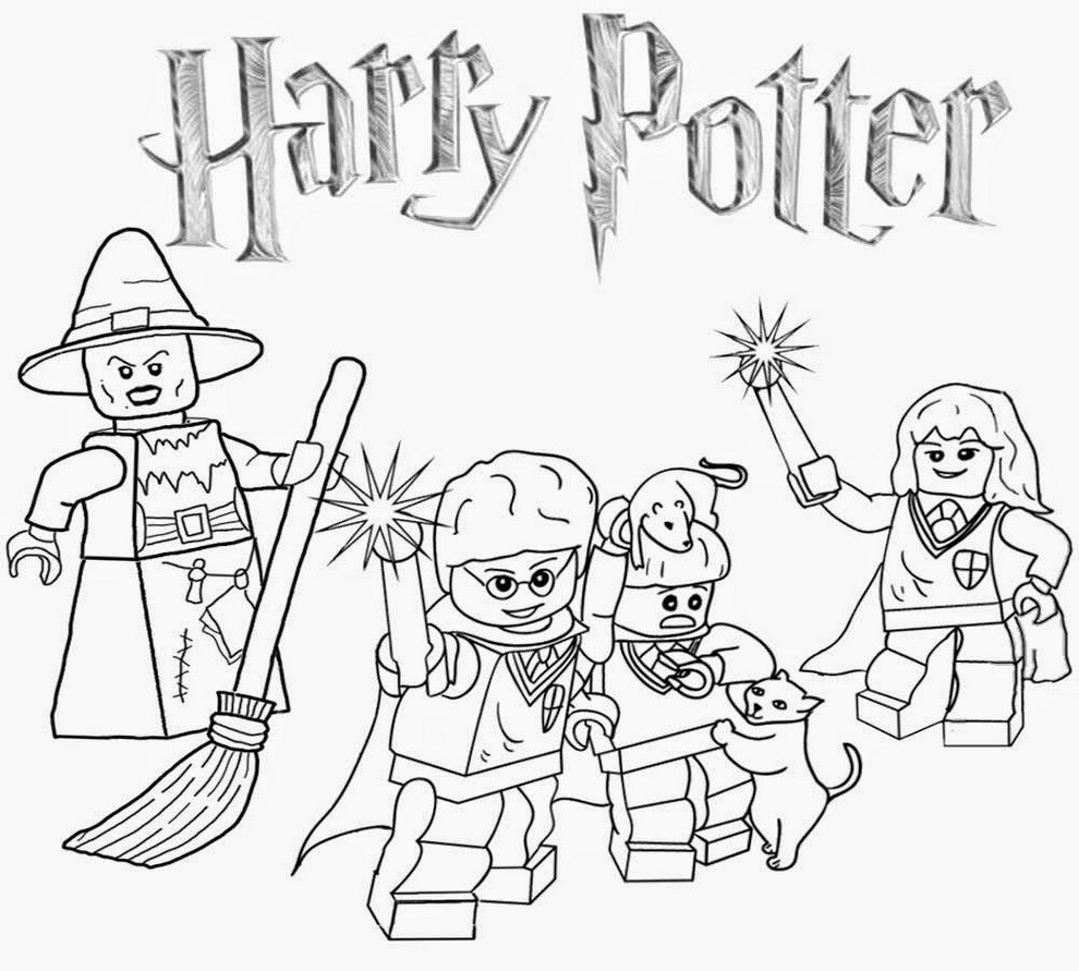 990x891 Professional Easy Harry Potter Coloring Pages Fortune To Print