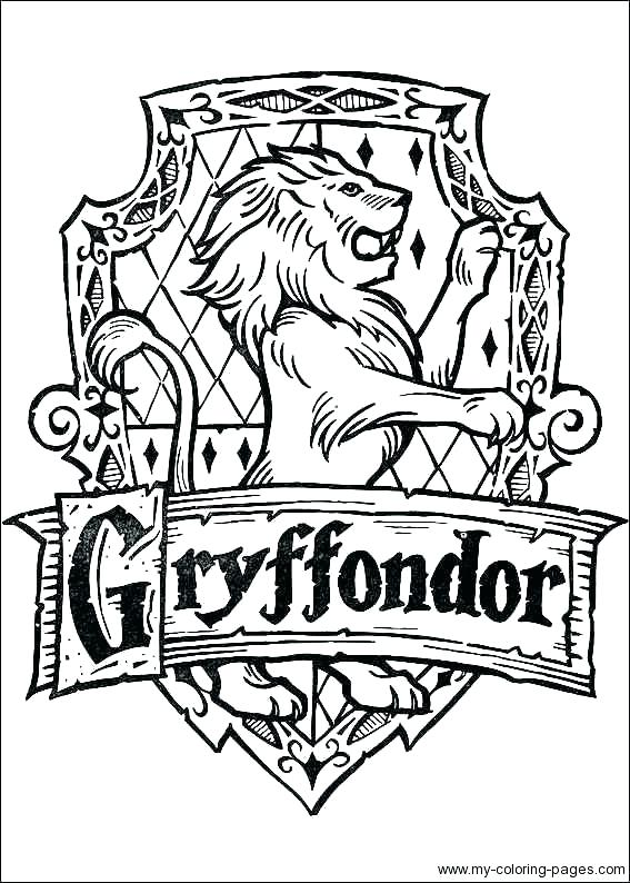 picture regarding Harry Potter House Badges Printable named Harry Potter Home Coloring Internet pages at  Totally free