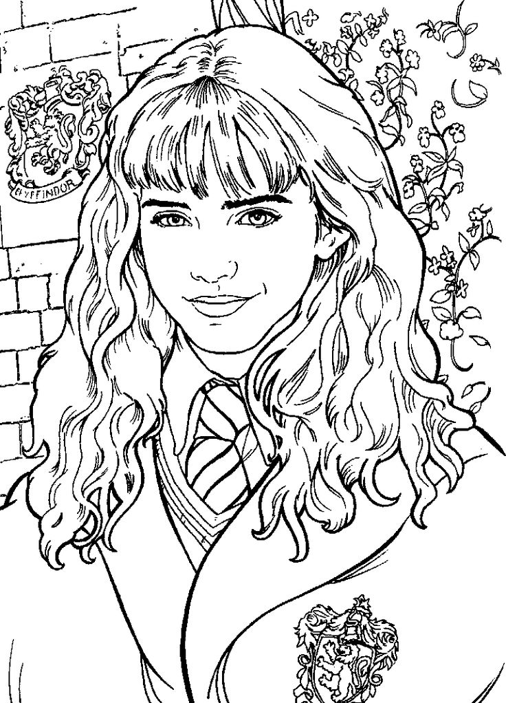 736x1022 Harry Potter Printable Coloring Pages