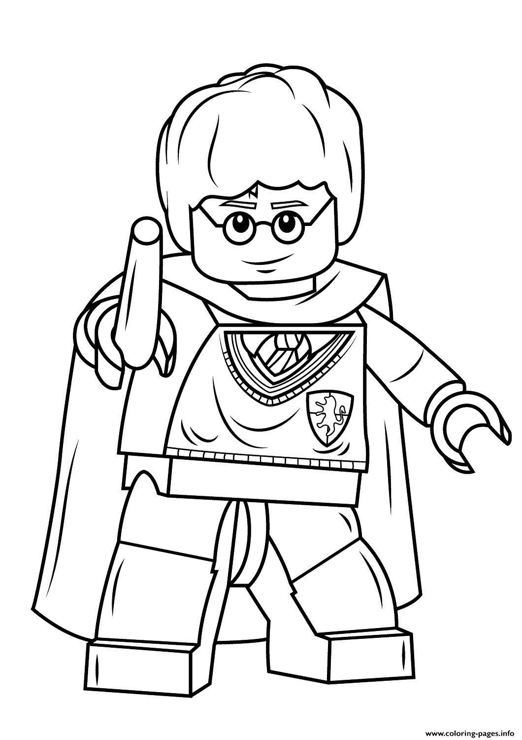 1060x1500 Print Lego Harry Potter With Wand Coloring Pages Lego World