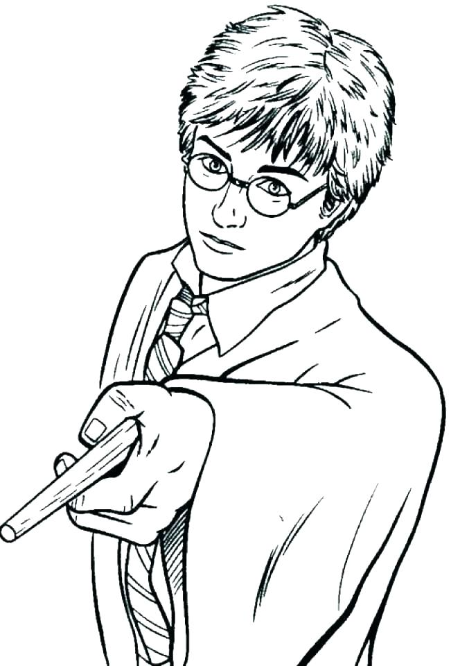 677x960 Harry Potter Printable Coloring Pages