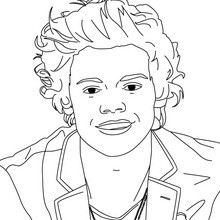 220x220 Harry Styles Coloring Pages