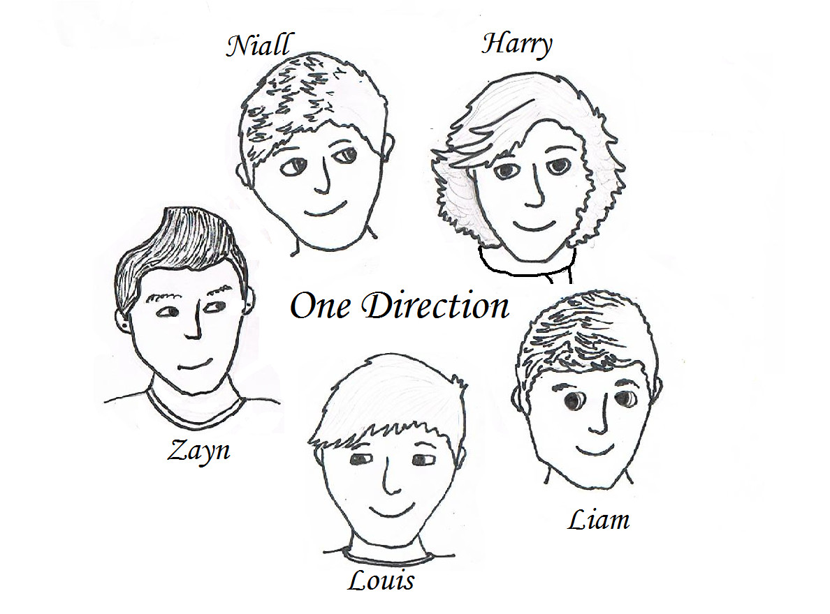 1188x880 One Direction Coloring Pages
