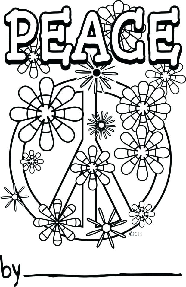 618x951 Peace Signs Coloring Pages Dirty Coloring Pages Peace Sign