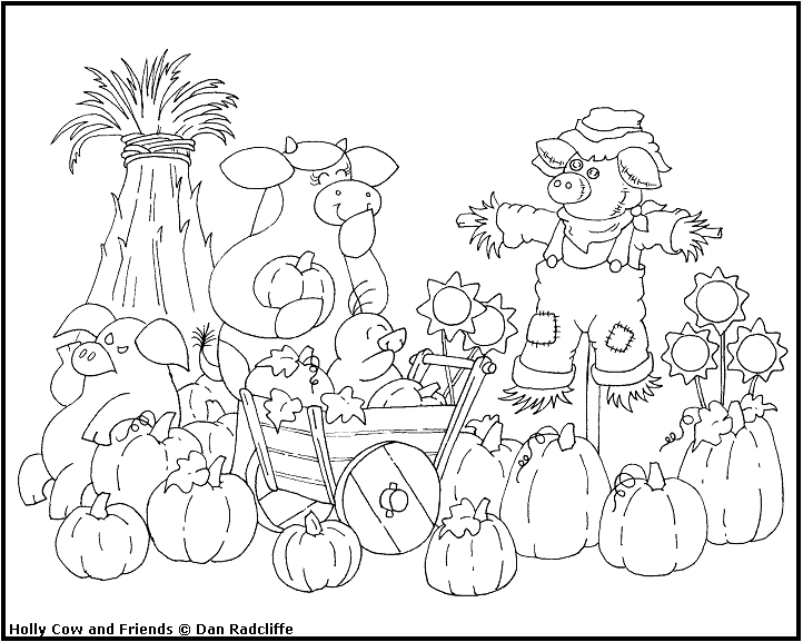 722x577 Harvest Coloring Pages